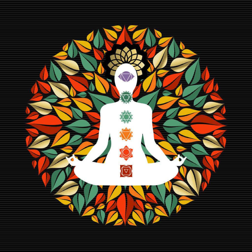 mandala showing 7 chakra locations for chakra balancing